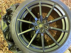 2016 Ford Mustang Shelby Gt350 Oem Rims Wheels 19x11 19x10 5 Tires 295 305