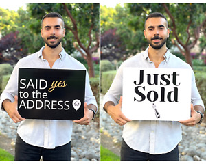 Sold Sign Real Estate Realtor Supplies Said Yes To The Address Sign Just Sold