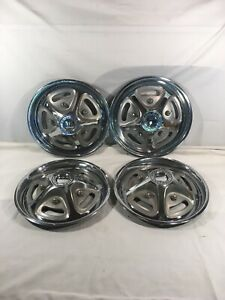Vintage 1967 1972 Ford Pickup Truck Mag Style Wheel Covers Hubcaps