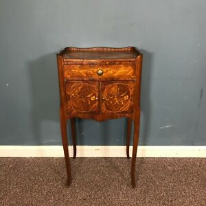 Antique French Side Table With Marquetry