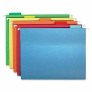Smead Hanging File Folders 1 5 Tab 11 Point Stock Letter Assorted Colors 25 box
