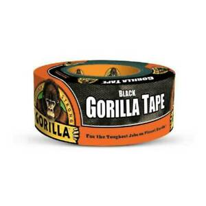 Gorilla Incredibly Strong Duct Tape Black 1 88 X 12 Yd Extra Thick stick New