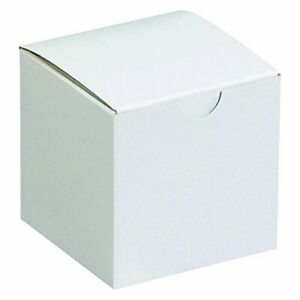 Aviditi Gift Boxes 3 X 3 X 3 White Pack Of 100 Easy Assemble Boxes Good Fo
