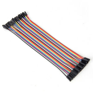 40pcs 20cm 2 54mm Female To Female Breadboard Jumper Wire Cable For Arduino F0
