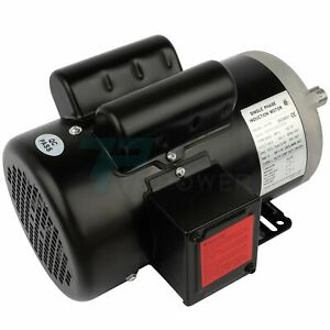 3 Hp Electric Motor For Air Compressor Single Phase 3450 Rpm 60 Hz 230 Volt