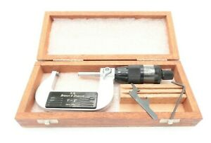 Brown Sharpe 599 20 10 Digit Mike Micrometer 1 2 With Case Swiss No Etchings
