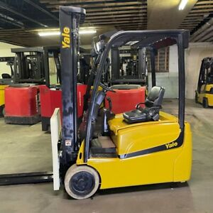 2015 Yale Erp040vtn 3400lb Capacity Used Forklift W Triple Mast Electric