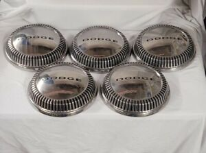 5 Vintage 60 61 Max Wedge Dodge Plymouth Chrysler Dog Dish Hubcaps Center Caps