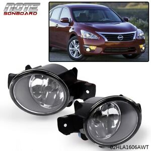 Fit For Nissan Altima Maxima Rogue Sentra Clear Lens Fog Lights Left Right