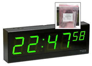 New Spectracom 8177 Timeview Tv 400 Large 4 Led Clock Wall Display Rs485 Serial