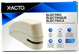 X acto Electric Stapler Up To 20 Sheets Easy Front Loading Home Office Use