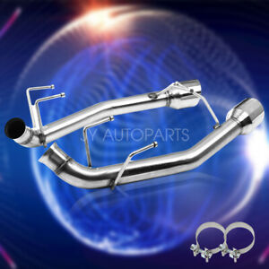 2 5 In Exhaust System Axle Cat Back For 11 14 Ford Mustang V6 3 7l With 4 Tips