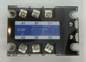 40a 3 Phase Ssr Solid State Relay Dc Control Ac Dc3 32v Out Ac24 480v Usa Shipn