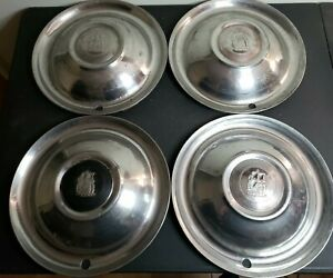 X4 Vintage 1950s Plymouth 15 Wheel Cover Hubcaps Lot