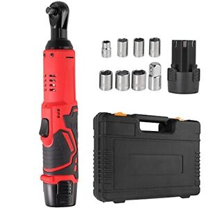 Cordless Electric Ratchet Wrench 3 8 45 Ft Lbs 12v Power Wrench Tool