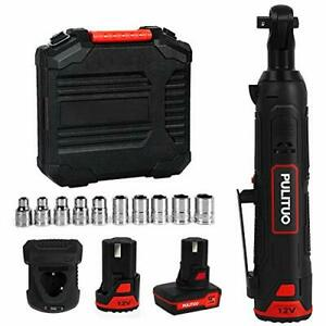 Cordless Ratchet Wrench 12v Electric Ratchet Wrench Kit 3 8 40n M With
