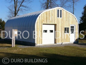 Durospan Steel 25 x28 x13 Metal Straight Wall Arch Building Kit Open Ends Direct