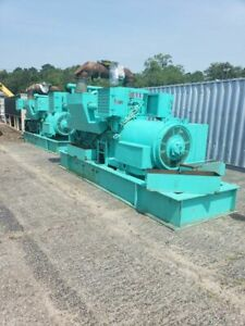 2 Detroit 1100kw Continuous Skid Mounted Generators Sold As Package