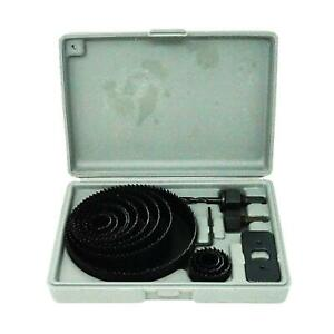 16pc Holesaw Hole Saw Kit Wood Drywall Alloy 19 127mm Circle Drill Cutter Set