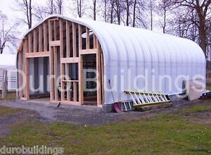 Durospan Steel 25x40x13 Metal Garage Home Building Kits Open Ends Factory Direct