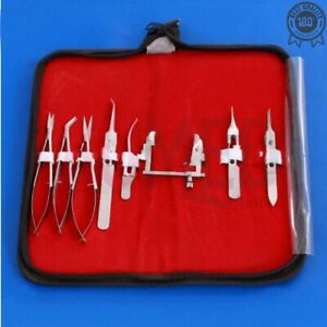 Eye Micro Minor Surgery Ophthalmic Instruments Set Of 8 Pieces Kit Surgical