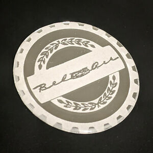 White Chrome Bel Air Zenith Wire Wheel Chips Emblems Decals Set Of 4 Size 2 75in