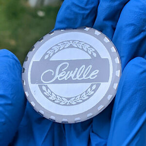 Chrome White Seville Zenith Wire Wheel Chips Emblems Decals Set Of 4 Size 2 25in