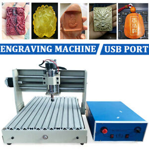 Usb 3040 Cnc Router Engraver 3 Axis Woodworking Drill Machine 3d Handwheel