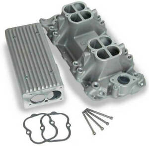 Weiand Stealth Ram Intake Manifold Satin For Chevy Small Block V8