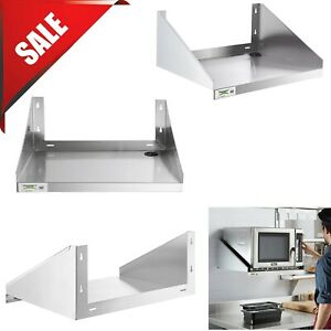 Two Sizes Stainless Steel Commercial Restaurant Wall Mount Microwave Shelf Nsf