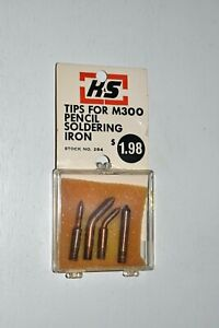 K S Tips For M300 Pencil Soldering Iron 284 Set Of 4 Tips New In Package
