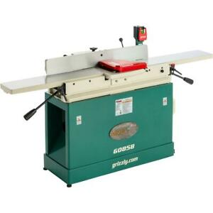 Grizzly G0858 8 X 76 Parallelogram Jointer With Helical Cutterhead Mobile