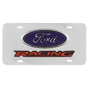 Pilot Lp 021b Ford Racing Officially Licensed License Plate Stainless Steel