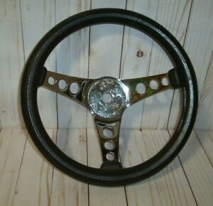 Vintage Superior Performance Products The 500 Chrome Amp Black Steering Wheel