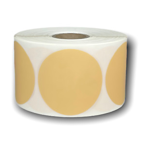 Beige Direct Thermal Shipping Zebra Compatible Labels 2 25 Round 1 Roll