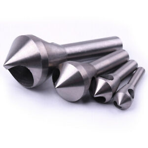 4x Hss Hole Chamfering Tool Countersink And Deburring Drill Bits In Us Stock