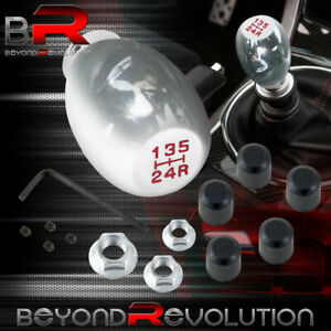 Upgrade Chrome Shift Knob 5 Speed W Red Lettering For Manual Transmission
