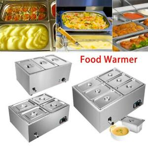 Commercial Electrical Food Warmer Stainless Steel Bain Marie Buffet 3 4 6 Pots
