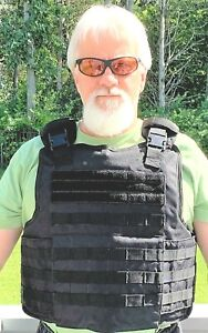 NIJ IIIA Tactical Bulletproof Vest Made with Kevlar® and UHMWPE w Plate Pockets $199.00