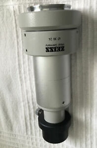 Zeiss Microscope 47 30 24 Photo Tube Camera Mount Adapter Focusable