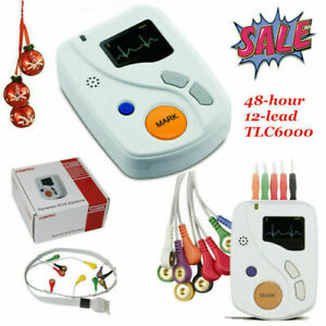 Tlc6000 Dynamic 12 Channel 48 Hours Ecg ekg Holter Recorder Systems Usa Stock