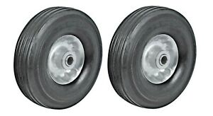 Hm 2pc 8 Replacement Solid Rubber Tire Steel Wheel For Dolly Hand Truck Cart