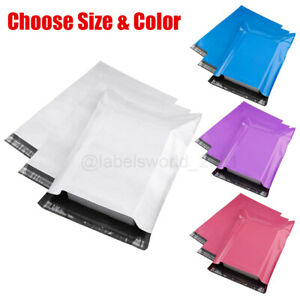 100 Poly Mailers Shipping Envelopes Self Sealing Mailing Bags Choose Size Color