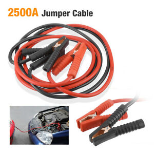 20ft 1 Gauge Booster Cable Battery Jump Start Jumping Heavy Duty Cables Jumper
