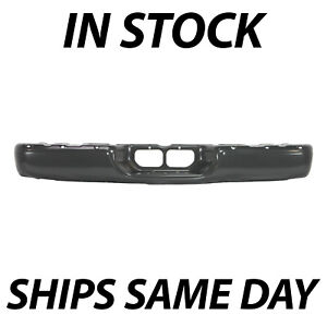 New Powder Coated Gray Steel Rear Bumper Face Bar For 2000 2006 Toyota Tundra