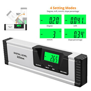 10 Inch Digital Level And Protractor Magnetic Electronic Tool Bright Lcd Display