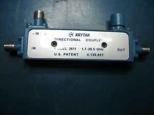 Krytar 2611 10db Directional Coupler 1 7 To 26 5 Ghz