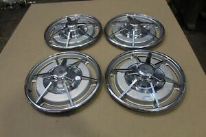 1963 Corvette Hubcaps Wheel Covers Original Early Frosted Oem Set Of 4