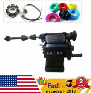 Top Manual Coil Winder Hand Coil Winding Machine Counting Double Purpose 0 99999