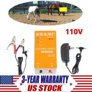 Electric Fence Energizer Controller Solar Ranch Animal Orchards Fencing Charger